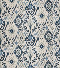 Blue ikat curtains blue grey curtains dining room curtains blue ethnic curtains navy gray curtains l Ocean Fabric, Ikat Fabric, Drapery Fabric, Blue Fabric, Ikat Curtains, Blue And White Fabric, Bedroom Curtains, Chair Fabric, Diy Bedroom