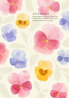 49 ideas for wall paper iphone flowers pattern floral watercolor Flower Patterns, Flower Designs, Floral Watercolor, Watercolor Paintings, Watercolor Artists, Botanical Illustration, Illustration Art, Illustrations And Posters, Pattern Wallpaper