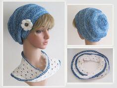 Crochet Hats, Scarf Crochet, Flower Crochet, Chic, Tutorials, Knitting Hats