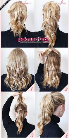 Atkuyruğu saç modelini bir de böyle deneyin :) | Saç Modelleri | Pek Marifetli!