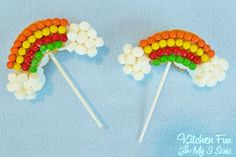 Kitchen Fun With My 3 Sons: Rainbow S'mores Pops