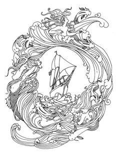 ship with mermaid