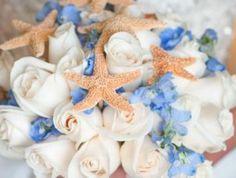 beach blue white wedding flowers by Beach Wedding Boutonniere, Beach Wedding Bouquets, Beach Wedding Decorations, White Wedding Flowers, Wedding Flower Arrangements, Wedding Beach, Wedding Hair, Wedding Stuff, Wedding Ideas