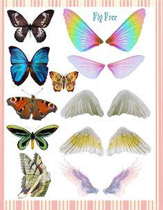 **FREE ViNTaGE DiGiTaL STaMPS**: Free Vintage Printable - Butterflies & WIngs