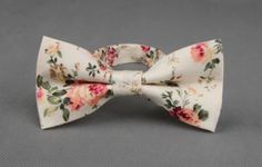 Men's Floral Pre-Tied Bow tie Small to Medium Necks by MYTIESHOP