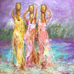 Triple Goddess, Women Empowerment, History, Painting, Beautiful, Dawn, Historia, Painting Art, Paintings