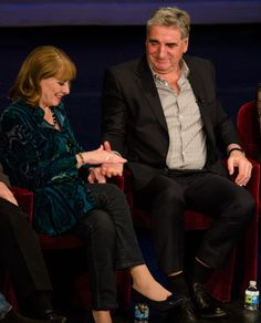 "Phyllis Logan and Jim Carter - Charles and Elsie Carson - Downton Abbey Another ""sweet moment"" found amongst the hundreds of images captured that evening!! December 2015.."