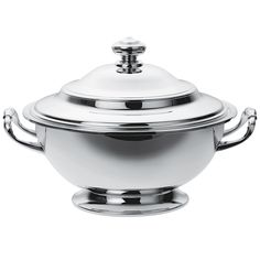 """Christofle Silverplated """"Albi"""" Soup Toureen & Cover"""