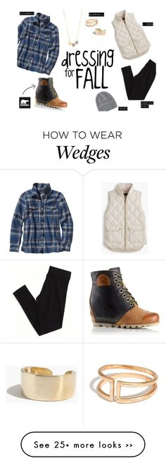 """The 1964 Premium Wedge from SOREL: Contest Entry"" by feliciadl on Polyvore featuring J.Crew, Patagonia, American Eagle Outfitters, SOREL, Madewell, Toast and sorelstyle"