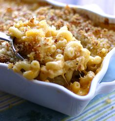 Macaroni and Cheese - this one has garlic, onion powder, and panko breadcrumbs