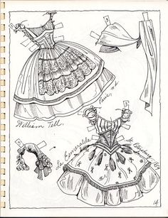 Tonight we have pages 13 through 18, one more night to go. Hope you are enjoying all the lovely outfits for these 3 dolls. I have been studying them as I post them, trying to decide which is my fa…