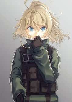 Stop in the name of the Empire, this is a Tanya checkpoint, post your best Tanya pics here & Manga Fille Blonde Anime, Blonde Anime Girl, Art Anime, Manga Anime, Character Inspiration, Character Design, Tanya Degurechaff, Illustration Manga, Tanya The Evil