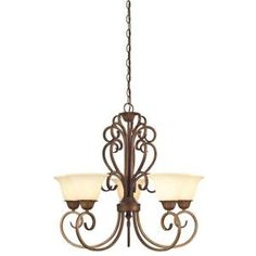 Westinghouse Regal Springs 5-Light Ebony Gold Chandelier-6220600 at The Home Depot