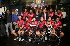 Marqués de Terán estuvo ayer en la presentación de #Rioja Master Bicicletas Jose Mari, el único equipo #ciclista riojano