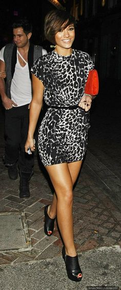 Frankie Sandford. Love her hair. Love her style.