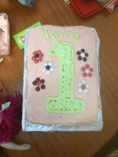 Keira's 1st birthday cake for home.