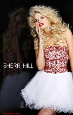 I must say I love a lot of Sherri Hill's stuff. This dress is adorable, I keep thinking Snow White for some reason...