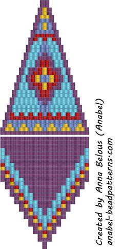 Схема сережек - мозаичное плетение