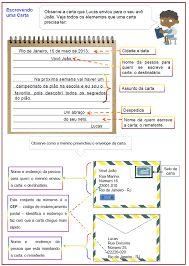 Resultado de imagem para produção textual carta