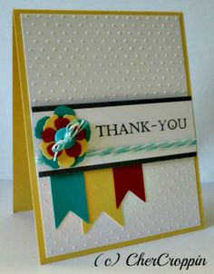 baby girl thank you cards stampin up | This was also a fun layout, which is from the CAS(E) this Sketch for ...