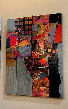 """Billboard , 40 x 30 inches, by Carol Nelson This mixed media collage has been around my studio for a couple years. Abstract Oil, Abstract Canvas, Contemporary Abstract Art, Modern Art, Mixed Media Collage, Collage Art, Keramik Design, Art Plastique, Collages"