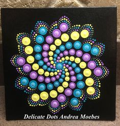 Check out our dot painting mandala selection for the very best in unique or custom, handmade pieces from our paintings shops. Mandala Art, Mandala Canvas, Mandala Painting, Mandala Pattern, Mandala Design, Pattern Art, Dot Art Painting, Rock Painting Designs, Painting Patterns