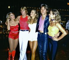 Love Disco music and pics. Patrick Swayze in Skatetown U. with cast members Maureen McCormick, Greg Bradford, Katherine Kelly Lang and April Allen. Roller Disco, Disco Party, Dirty Dancing, 70s Disco Outfit, Disco Outfits, 70s Party Outfit, 70s Outfits, Style 70s, Maureen Mccormick