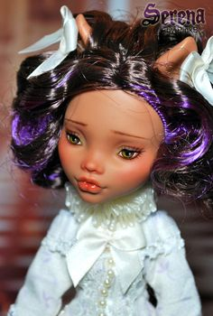 OOAK Mattel Monster High Clawdeen Wolf Repaint Dressed Doll by Pinkb   eBay