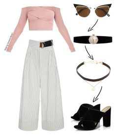 """OOTD 0013"" by vettinalyse on Polyvore featuring TIBI, Dsquared2, Boohoo, Jennifer Zeuner, Rolex, ootd, BoldStripes, styledbyannalysemonet and Spring2017"