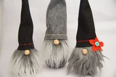 Swedish Santa Handmade felt gnome nordic by thelittlegreenbean