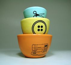 The Urban Set for Sewing Made to Order by CircaCeramics on Etsy, $65.00