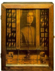 Medici Boy (ca.1942-52) by Joseph Cornell, 1903-1972. Cornell wandered NYC streets searching for objects he thought had been long-separated. He then combined and created works of art in the form of small boxes
