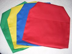 24 CHAIR POCKETS Ready to ship Durable Cotton small multi colored