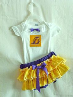 NBA LA Lakers Infant Baby Toddler Boutique Onsie by SedonaStyle, $34.00
