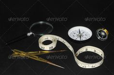 Vintage Orientation Tools ...  angle, compass, concept, different, direction, education, exploration, geography, geometry, isolated, many, map, mapping, measuring, meter, orientation, rare, strange, tape, tools, unusual, vintage