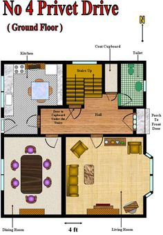 Number 4 Privet Drive Floor Plan