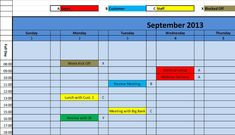 excel monthly calendar template