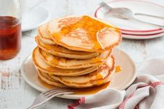 Really awesome pancake recipe! Lovely and sweet and fluffy. Just like pancakes should be. The kids loved them