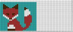 Tricksy Knitter Charts: fox 2 by tank Isle Tiermuster-Strickkarten Tricksy Knitter chartmaker Knitting Graph Paper, Fair Isle Knitting Patterns, Knitting Charts, Knitting Designs, Crochet Fox, Crochet Chart, Fair Isle Chart, Little Cotton Rabbits, Knit Basket