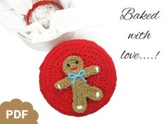 cute crocheted gingerbread man - by lemonata