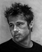 Brad Pitt drawing by WhizzieWhizzer