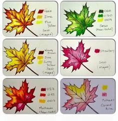 How to color leaves - gradient