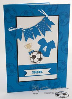Football Mad Boy's Birthday Card Great Sport, Tag It, For My Family, Pacific Point Joanne James, Stampin' Up Demonstrator, www.blog.thecraftyowl.co.uk