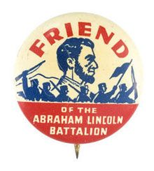 A political button worn by supporters of the unit. 1902
