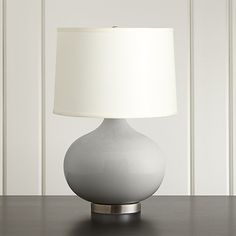 #fashionMerie Grey Table Lamp with Nickel Base # Affiliate Link