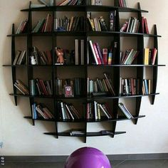 Cool DIY Bookshelf Designs: Cool DIY Bookshelf Designs With Modern And Minimalist Wooden Bookcase Design Wall Mounted Bookshelves, Creative Bookshelves, Wooden Bookcase, Vintage Bookshelf, Bookcase White, Bookcases, Timber Shelves, Pallet Shelves, Book Shelves