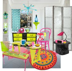 """""""Neon Room"""" by synkopika on Polyvore"""