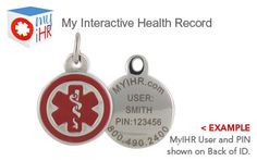 Stainless Steel Round Charm with My Interactive Health Record Access