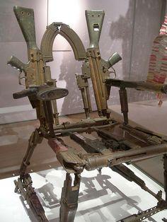 chair made from guns