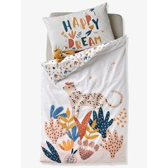 La Redoute - Housse de couette Happy Dream (32,99 €) Baby Bedroom, Kids Bedroom, Rainbow Room Kids, Baby Duvet, Kids Comforters, Bedding Inspiration, Kids Patterns, Cotton Bedding, Duvet Sets